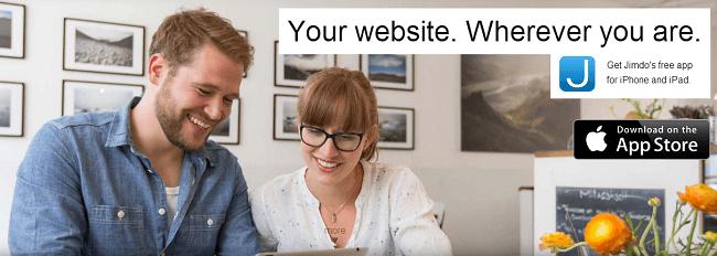 Jimdo website builder for ios