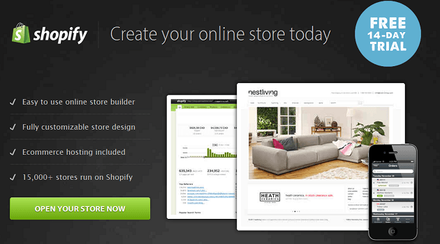 Shopify Ecommerce software and online store builder banner