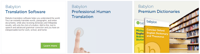 Babylon - Free translation and dictionary software