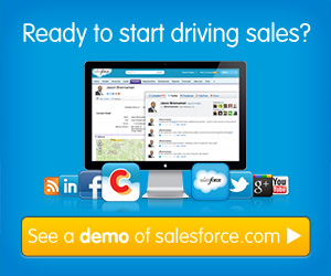 Sales force cloud computing and CRM website banner