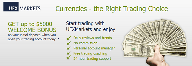 UFX Marketers - online forex traders banner