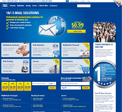 1and1.com - Professional solutions for websites, hostings and domain