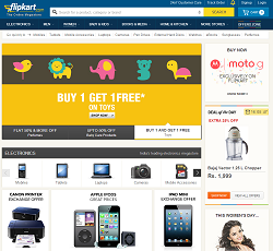 flipkart - online shopping website based in India