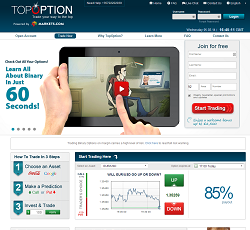 TopOption - Binary options trading platform