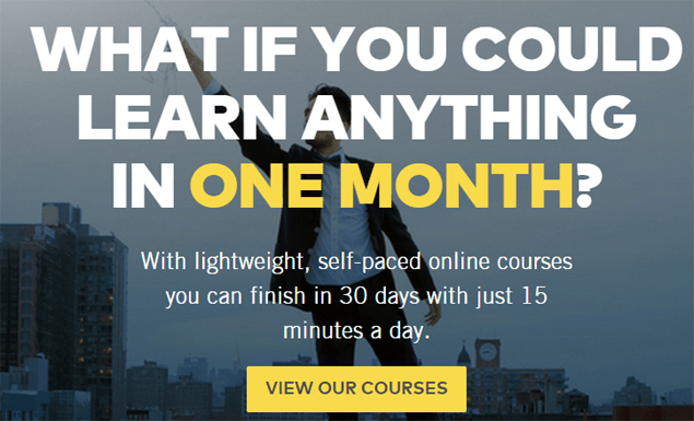 OneMonth.com - Online learning courses HTML, JavaScript, Python, iOS, ruby on the rails and more