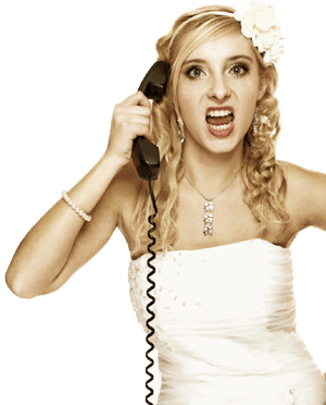 Angry girl shouting on the phone