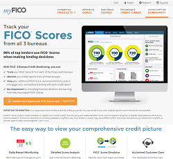 Buy Myfico Fico Score Credit Report Used Ebay