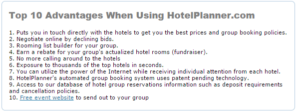 HotelPlanner.com - Online hotel booking site for group reservations, negotiated rates and extended stays
