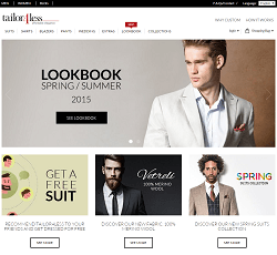 Tailor4Less.com - Online site for men's custom suits and custom shirts
