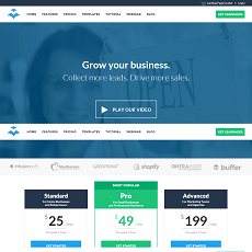 Leadpages website homepage thumb