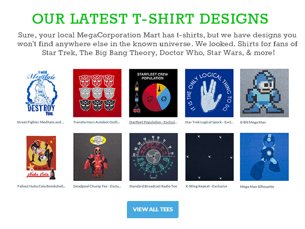 ThinkGeek.com - Online store for unique t shirts, gadgets and other products